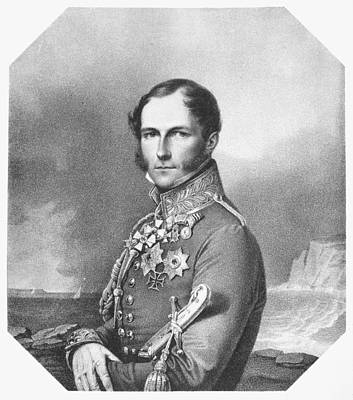 Iron Cross Painting - Leopold I (1790-1865) by Granger