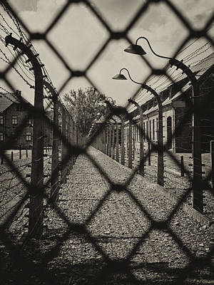 Photograph - Lest We Forget 4 - Auschwitz Poland by Inge Riis McDonald