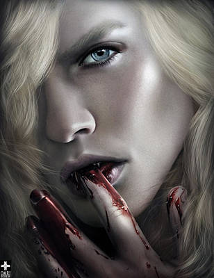 Anne Rice Digital Art - Lestat Licks Blood by Omri Koresh