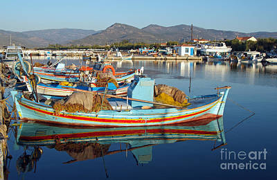 Photograph - Skala Kallonis Port by George Atsametakis