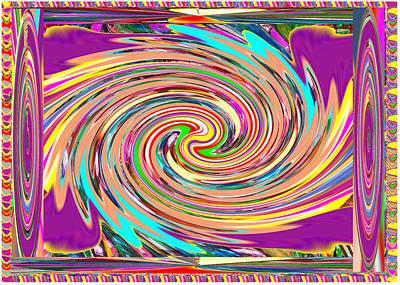 Mixed Media - Purple Base Sparkling Twirl Graphic by Navin Joshi