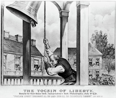July Painting - Liberty Bell, 1776 by Granger