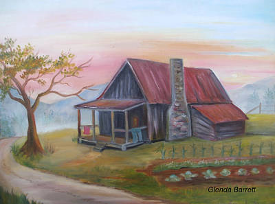 Life In The Country Art Print by Glenda Barrett