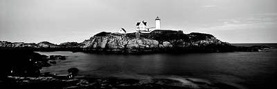 Lighthouse At A Coast, Nubble Art Print by Panoramic Images