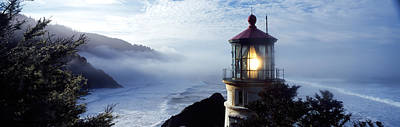 Lighthouse On A Hill, Heceta Head Art Print