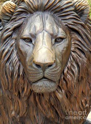 Photograph - Lion Close Up by Rachel Munoz Striggow