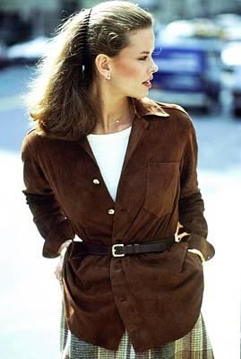 Photograph - Lisa Taylor Wearing Ralph Lauren by Arthur Elgort
