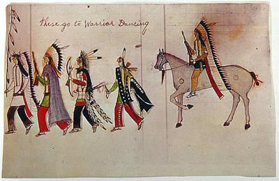 Indian Tribal Art Painting - Little Bighorn, 1876 by Granger
