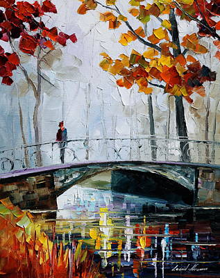 Little Bridge Original by Leonid Afremov