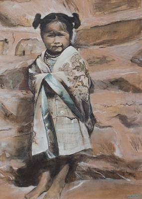 Painting - Little Hopi Girl by Terri Ana Stokes
