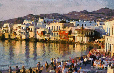 Little Venice In Mykonos Island Art Print