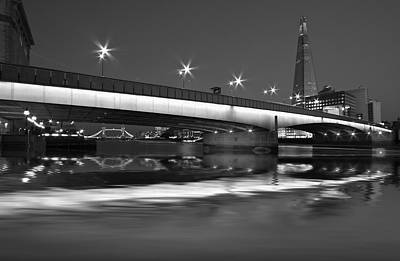 Photograph - London Bridge Shard Hdr by David French