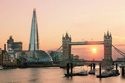 Cityscapes Photograph - London, Shard London Bridge And Tower by Sylvain Sonnet