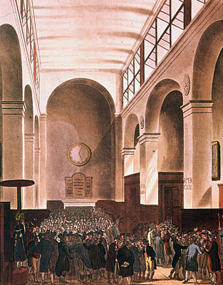 Microcosm Painting - London Stock Exchange by Granger