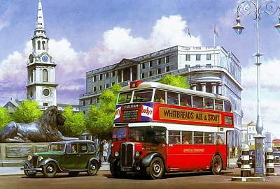Streetscenes Painting - London Transport Stl by Mike  Jeffries