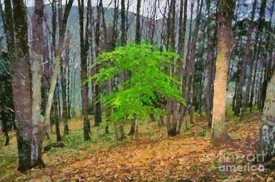 Painting - Lonely Tree by George Atsametakis