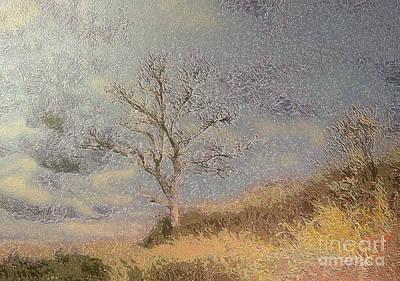 Spooky Scene Painting - Lonely Tree by Odon Czintos
