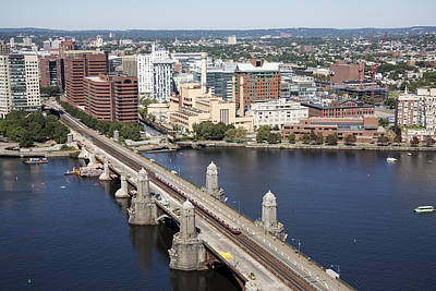 River Photograph - Longfellow Bridge Over Charles River by Dave Cleaveland