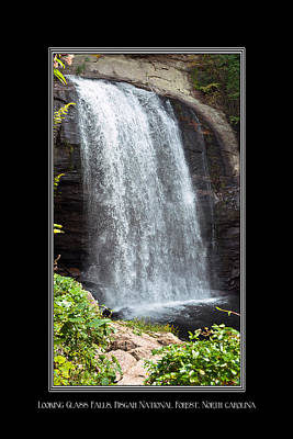 Photograph - Looking Glass Falls North Carolina by Charles Beeler