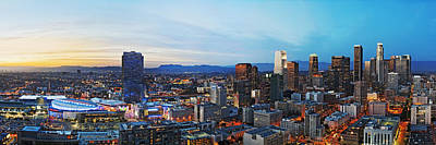Skylines Royalty-Free and Rights-Managed Images - Los Angeles Skyline by Kelley King