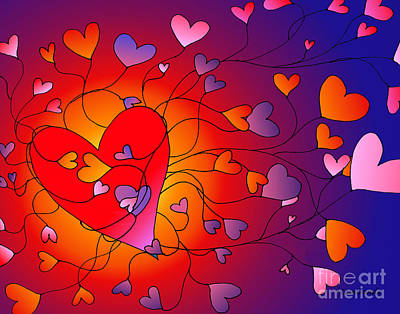 Digital Art - Love Of Self And Others by Louise Lamirande