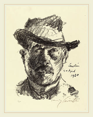 Self-portrait Drawing - Lovis Corinth, Self-portrait Selbstbildnis by Litz Collection
