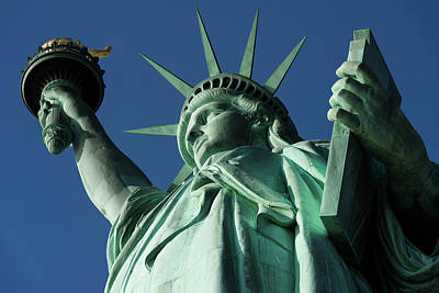 Low Angle View Of Statue Of Liberty Art Print