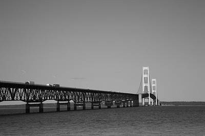 Photograph - Mackinac Bridge by Frank Romeo