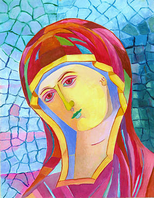 Jpii Painting - Our Lady Of Grace. Madonna Icon Catholic Art by Magdalena Walulik