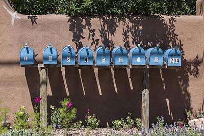 Mailboxes Santa Fe Nm Art Print by David Litschel