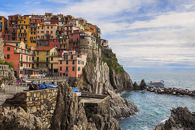 Rock Photograph - Manarola by Joana Kruse