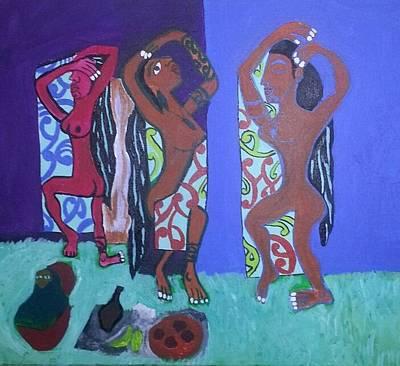 Maori Slaves Irony Art Print by Hori Kiwara