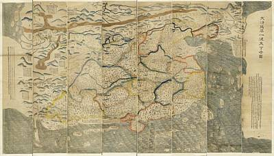 Great Wall Of China Photograph - Map Of China by Library Of Congress, Geography And Map Division
