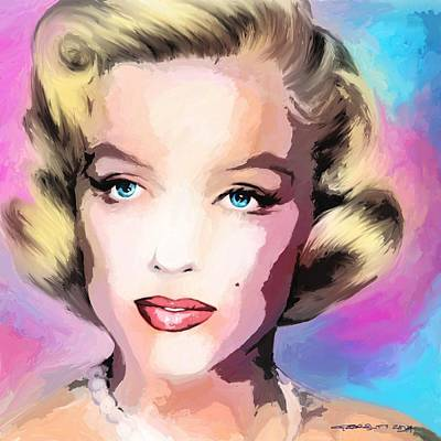 Digital Art - Marilyn Monroe Large Size Portrait by Gabriel T Toro