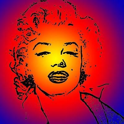 Woman Digital Art - Marilyn Monroe by Galeria Zullian  Trompiz