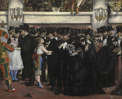 Flirt Painting - Masked Ball At The Opera by Edouard Manet