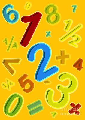 Numbers Plus Photograph - Mathematics by David Nicholls