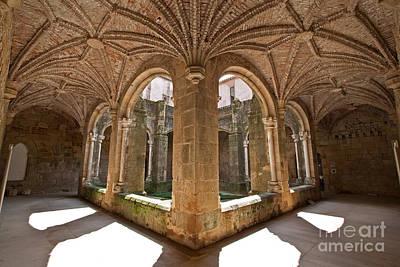 Monastery Photograph - Medieval Monastery Cloister by Jose Elias - Sofia Pereira