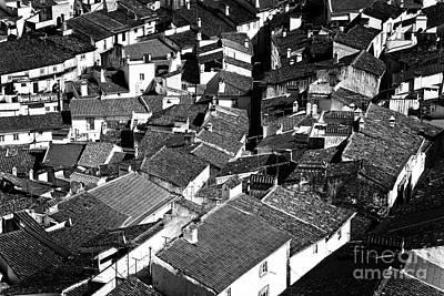 Alentejo Photograph - Medieval Town Rooftops by Jose Elias - Sofia Pereira