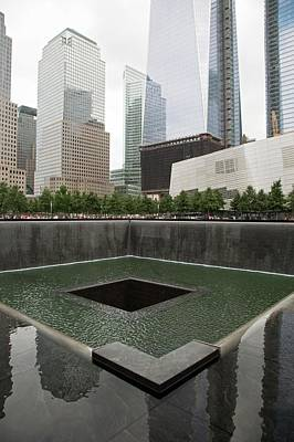 Twin Towers Nyc Photograph - Memorial To 11 September 2001 by Jim West