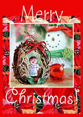 Painting - Merry Christmas by Irina Sztukowski