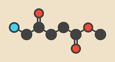 Basal Photograph - Methyl Aminolevulinate Drug Molecule by Molekuul