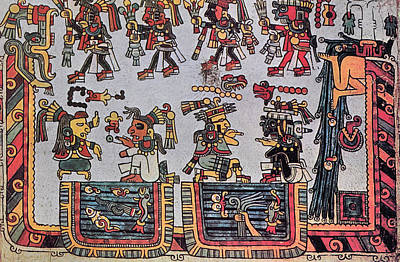 Indian Tribal Art Drawing - Mexico Mixtec Manuscript by Granger