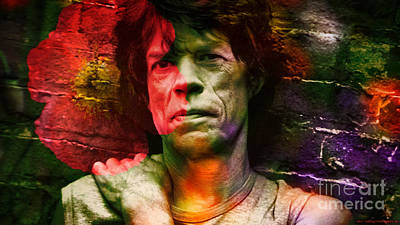 Rolling Stones Mixed Media - Mick Jagger by Marvin Blaine