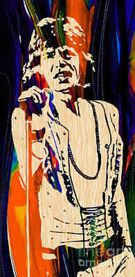 Music Mixed Media - Mick Jagger Of The Rolling Stones Painting by Marvin Blaine