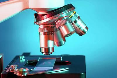 Scrutiny Photograph - Microscope by Wladimir Bulgar