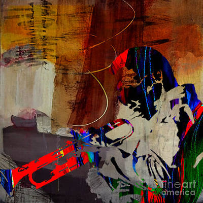 Jazzman Mixed Media - Miles Davis by Marvin Blaine