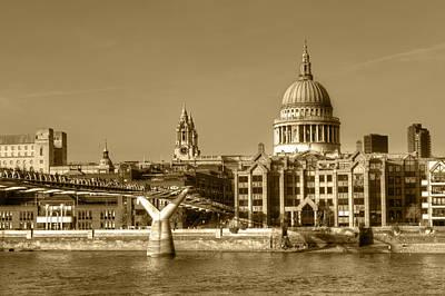 Photograph - Millennium Bridge And St Pauls by Chris Day