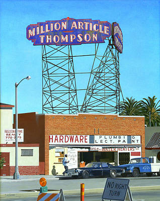 Michael Ward Painting - Million Article Thompson by Michael Ward
