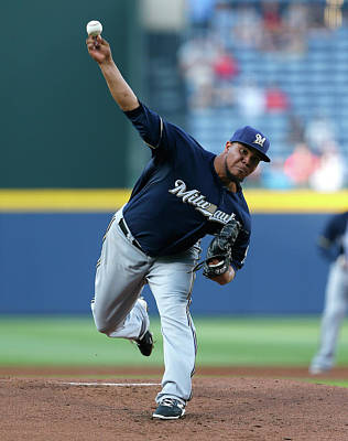 Photograph - Milwaukee Brewers V Atlanta Braves by Kevin C. Cox